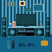 Vector illustration apartment Stock Illustration