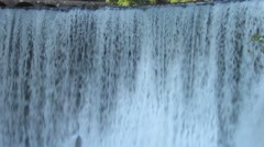 Abkhazia city of New Athos. Artificial waterfall on the river Psyrtsha Stock Footage