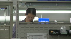 Chinese factory, assembly line, China Arkistovideo