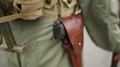 An old US army military uniform Stock Footage