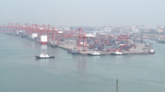 Xiamen port, shipping industry, China Stock Footage