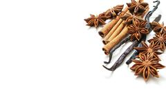 Star anise, cinnamon and vanilla pods - stock photo