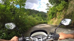 2.7K Hands on Motobike on Rural Rustic Road in Jungle Stock Footage