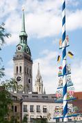 Old Peter church in Munich - stock photo
