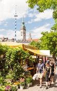 Viktualienmarkt in Munich - stock photo
