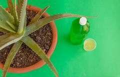 a bottle of aloe juice - stock photo