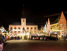Traditional German Christmas Market - stock photo