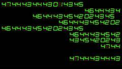 digital numbers green - stock footage