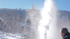 Snowblowing after a snow storm. Stock Footage
