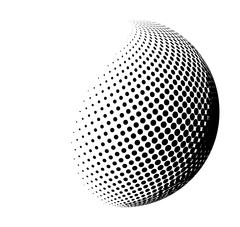 halftone globe, sphere vector logo symbol, icon, design. abstract dotted glob - stock illustration
