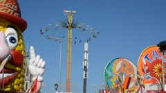 Chairoplane  at Oktoberfest - stock footage