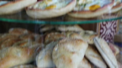 Middle eastern baked Sambusak Stock Footage