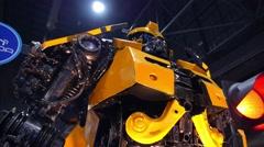 Bumblebee Transformer. Closeup - stock footage