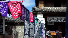 Chinese traditional dyeing house Stock Footage