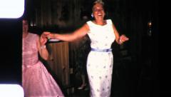 Beatnik DANCE PARTY Women DANCING 1960s Vintage Film Home Movie  9043 Stock Footage