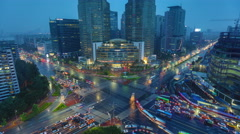 Seoul Korea Gangnam Stock Footage