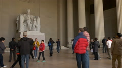 4K, Abraham Lincoln Statue Inside Lincoln Memorial in Washington, DC - stock footage