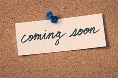 Coming soon Stock Photos
