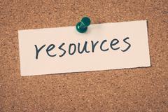 Stock Photo of resources