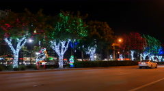 City holiday decorations - stock footage