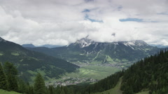 Clouds moving over the Zugspitze Stock Footage