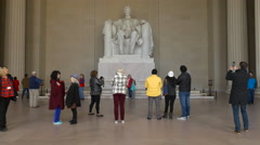 4K, Abraham Lincoln Statue Inside the Lincoln Memorial, National Mall, DC Stock Footage