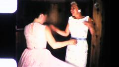 DANCE PARTY Middle Aged Women DANCING 1960s Vintage Film Home Movie  9044 - stock footage