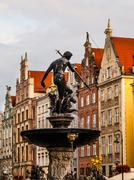 Statue of Neptune in Gdansk Stock Photos