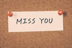 miss you - stock photo