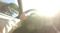 Driving around in Alghero Stock Footage