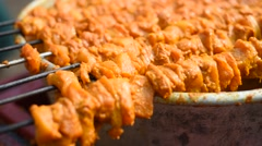 Chicken tikka Kabab Stock Footage