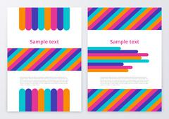 Vector illustration of color brochures Stock Illustration