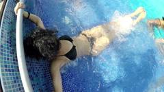 Female model in bikinni enjoy luxury spa therapy water jet pool Arkistovideo