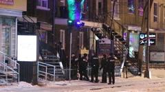 Police raid - stock footage