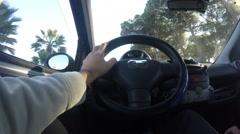 driving around in Alghero, Sardinia - stock footage
