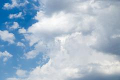Stock Photo of beautiful sky background with clouds
