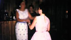 Wild Modern DANCE PARTY Women DANCING 1960s Vintage Film Home Movie 9045 Stock Footage