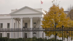 The White House, Close Up in Late Fall, Stock Footage