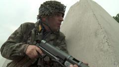 WW2 German Paratrooper Sergeant Stock Footage