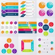 Stock Vector set of infographics Stock Illustration