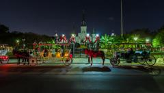 New Orleans Jackson Square Hyperlapse Stock Footage