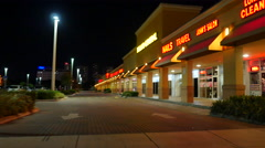 Strip Mall stock video - stock footage