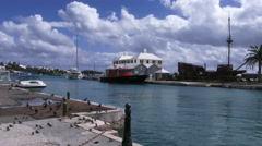Saint George's harbour, Bermuda - stock footage