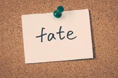 fate - stock photo