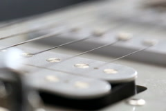 Close up of guitar strings. HD Stock Footage