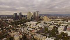 Aerial Beverly Hills Century City Stock Footage