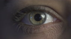 Detail of Female eye Stock Footage