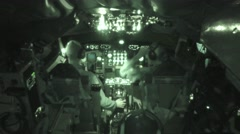 IR: The US Air Force 100th Air Refueling Wing pilots inside KC-135 Stock Footage