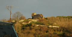 Le chateau d'Engelbourg, oeil de la Sorciere seen from Thann Stock Footage