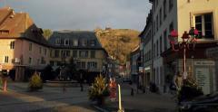 La fontaine Saint-Thiebaut, France, Alsace Stock Footage